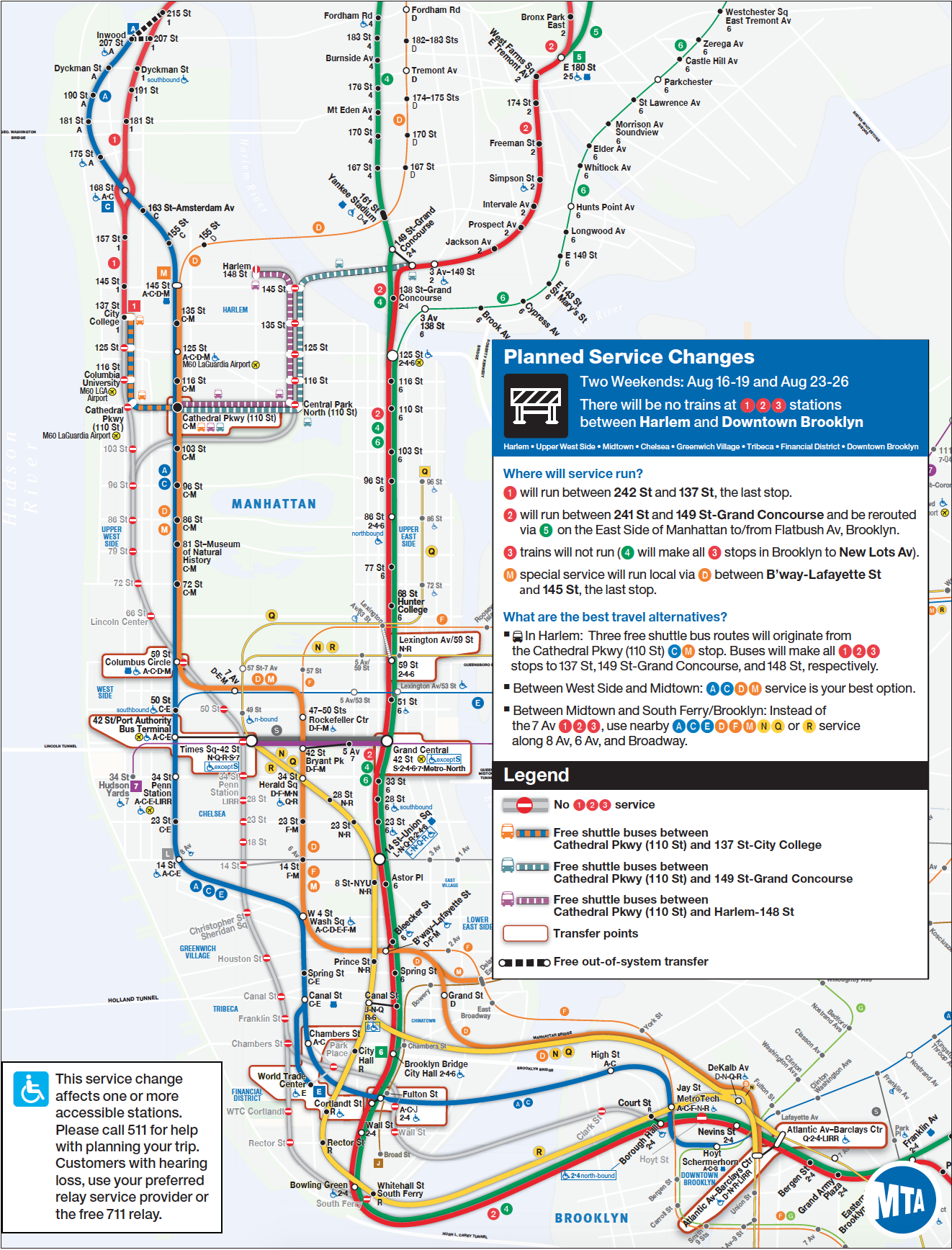 MTA Planned Service Changes for the Weekends: Aug 16-19 and ... on s74 bus map, s44 bus map, s53 bus map, s55 bus map, m57 bus map, m60 bus map, m20 bus map, s79 bus map, s57 bus map, s62 bus map, s66 bus map, s59 bus map, s89 bus map,