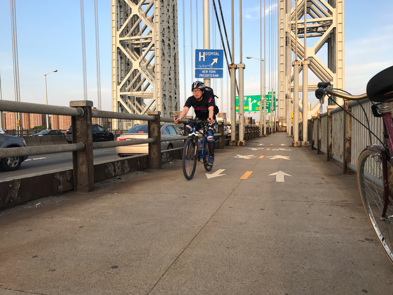 GWB by bike