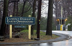 A photo of the entrance to the Lamont-Doherty Earth Observatory