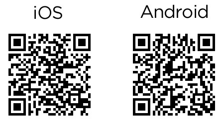 QR codes to download Passio