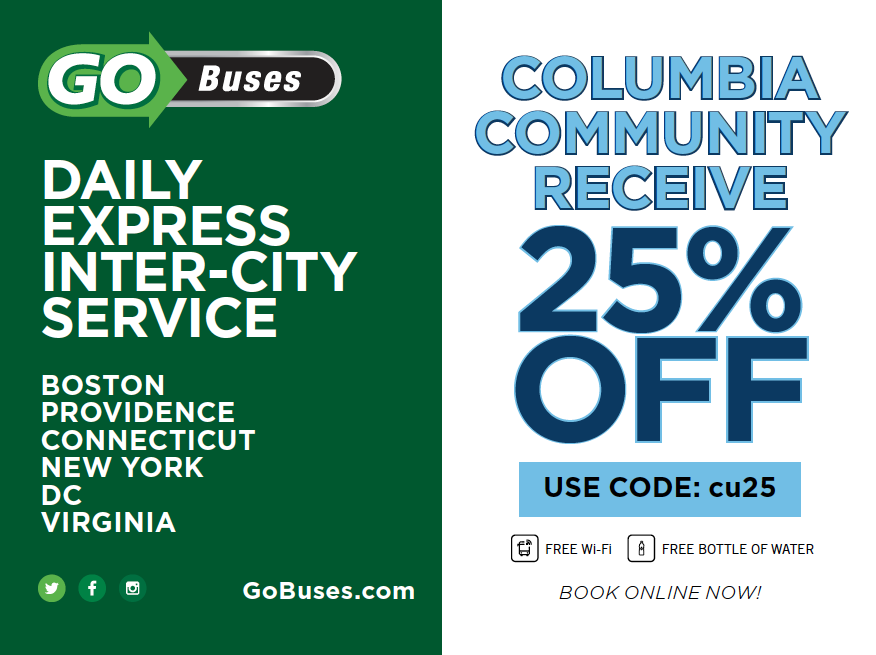 Image with Go Bus and Columbia logos