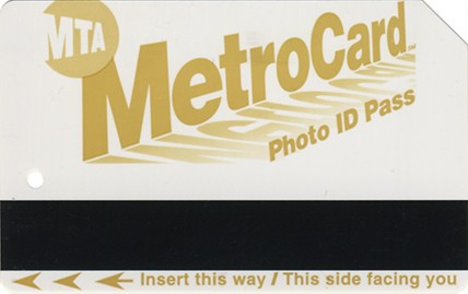 Sample of a Metrocard for seniors or those with disabilities.